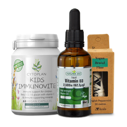 A selection of vegan products available at medino