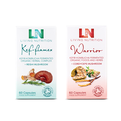 A range of food supplements from the brand Living Nutrition