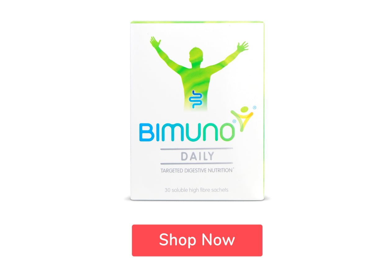 Bimuno Daily 30 Sachets with Shop Now button