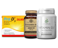 Vitamin D supplements on offer